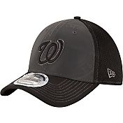 New Era Men's Washington Nationals 39Thirty Grey/Black Shadow Reflect Flex Hat