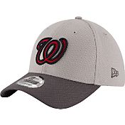 New Era Men's Washington Nationals 39Thirty Diamond Era Grey Flex Hat