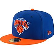 New Era Men's New York Knicks 59Fifty Royal/Orange Fitted Hat