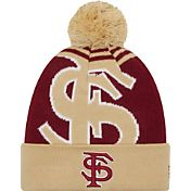 New Era Men's Florida State Seminoles Gold/Garnet Logo Whiz 2 Knit Beanie