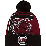 New Era Men's South Carolina Gamecocks Black/Garnet Logo Whiz 2 Knit Beanie