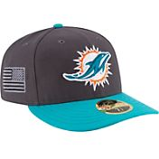New Era Men's Miami Dolphins Crafted in America 59Fifty Graphite Fitted Hat