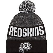 New Era Men's Washington Redskins Sport Black Knit Beanie