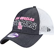 New Era Youth Girls' Los Angeles Dodgers 9Twenty Denim Stitcher Adjustable Hat