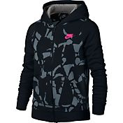 Nike Girls' Sportswear Printed Full-Zip Hoodie
