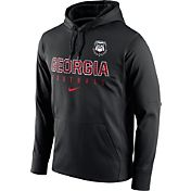 Nike Men's Georgia Bulldogs Black Circuit Performance Football Hoodie