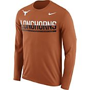 Nike Men's Texas Longhorns Burnt Orange Staff Sideline Long Sleeve Shirt