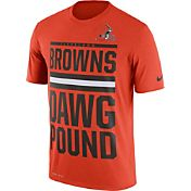 Nike Men's Cleveland Browns 'Dawg Pound' Performance Orange T-Shirt
