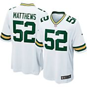 Nike Men's Away Game Jersey Green Bay Packers Clay Matthews #52 - Extended Sizes