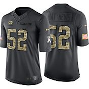 Nike Men's Home Limited Jersey Green Bay Packers Clay Matthews #52 Salute to Service 2016