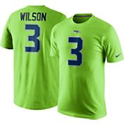 Nike Men's Seattle Seahawks Russell Wilson #3 Pride Green T-Shirt