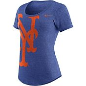 Nike Women's New York Mets Marled Royal Scoop Neck T-Shirt
