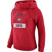 Nike Women's Georgia Bulldogs Red Tailgate Funnel Hoodie