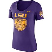 Nike Women's LSU Tigers Purple Enzyme Washed Campus Elements Scoop T-Shirt
