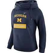 Nike Women's Michigan Wolverines Blue Tailgate Funnel Hoodie
