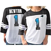 G-III for Her Women's Carolina Panthers Cam Newton #1 Knit Jersey Top