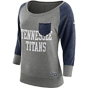 Nike Women's Tennessee Titans Tailgate Vintage Crew Grey Long Sleeve Shirt