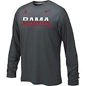 Nike Youth Alabama Crimson Tide Anthracite Staff Sideline Legend Long Sleeve Shirt