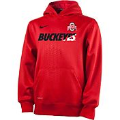 Nike Youth Ohio State Buckeyes Scarlet Sideline KO Football Performance Hoodie