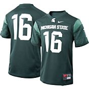 Nike Youth Michigan State Spartans #16 Green Game Football Jersey