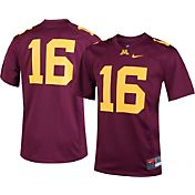Nike Youth Minnesota Golden Gophers #16 Maroon Game Football Jersey