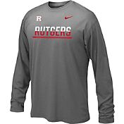 Nike Youth Rutgers Scarlet Knights Anthracite Staff Sideline Long Sleeve Shirt