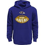 NFL Team Apparel Boys' Baltimore Ravens Embossed Purple Hoodie