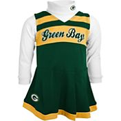 NFL Team Apparel Girls' Green Bay Packers Cheer Green Jumper