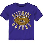 NFL Team Apparel Toddler Baltimore Ravens Place Kicker T-Shirt