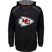 NFL Team Apparel Youth Kansas City Chiefs Pinnacle Black Performance Hoodie