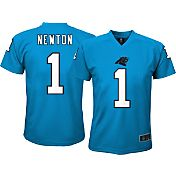 NFL Team Apparel Youth Carolina Panthers Cam Newton #1 Performance T-Shirt