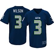 NFL Team Apparel Youth Seattle Seahawks Russell Wilson #3 Navy T-Shirt