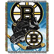 Northwest Boston Bruins 48 in x 60 in Home Ice Advantage Tapestry Throw Blanket