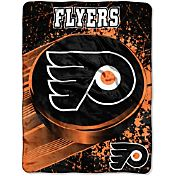 Northwest Philadelphia Flyers Puck Micro Raschel Sherpa 45 in x 60 in Throw Blanket