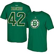Reebok Men's Boston Bruins David Backes #42 St. Patrick's Day Green Player T-Shirt