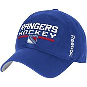 Reebok Men's New York Rangers Center Ice Locker Room Royal Slouch Adjustable Snapback Hat