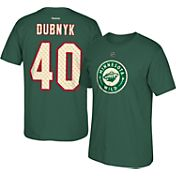 Reebok Men's Minnesota Wild Devan Dubnyk #40 Alternate Green Player T-Shirt