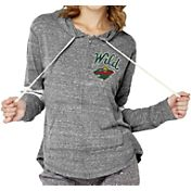 Soft As A Grape Women's Minnesota Wild Shadow Grey Full-Zip Hoodie