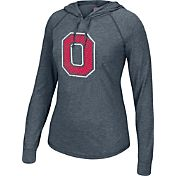 Scarlet & Gray Women's Ohio State Buckeyes Gray Perfect Hoodie Long Sleeve Shirt