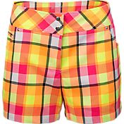 Slazenger Women's Impulse Plaid Golf Shorts