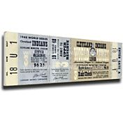 That's My Ticket Indians 1948 World Series Canvas Mega Ticket