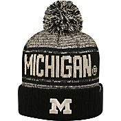 Top of the World Men's Michigan Wolverines Blue/White Acid Rain Knit Beanie