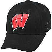 Top of the World Men's Wisconsin Badgers Black Premium Collection M-Fit Hat