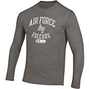 Under Armour Men's Air Force Falcons Grey Tri-Blend Long Sleeve T-Shirt
