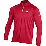 Under Armour Men's Maryland Terrapins Red UA Tech Quarter-Zip Shirt