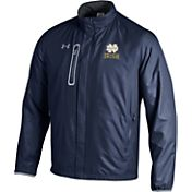 Under Armour Men's Notre Dame Fighting Irish Navy/Grey Hybrid Microfleece Jacket
