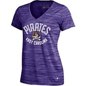 Under Armour Women's East Carolina Pirates Purple UA Space Tech V-Neck T-Shirt