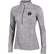 Under Armour Women's Notre Dame Fighting Irish Grey UA Tech Quarter-Zip Shirt