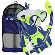 Aqua Lung Sport Youth Buzz Jr. and Island Dry Jr. Snorkel Set