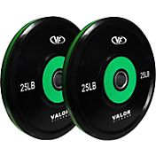 Valor Fitness 25 lb. Olympic Bumper Plate Pro Set